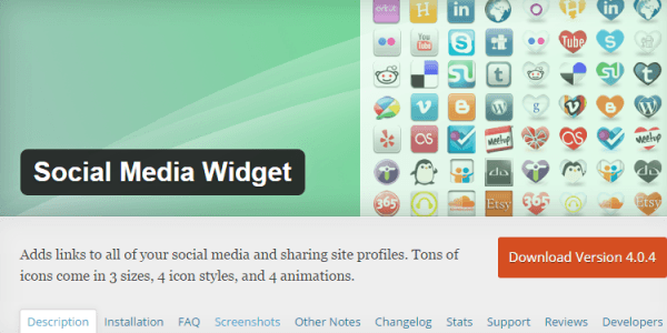 Mejores Plugins WordPress: Social Media Widget