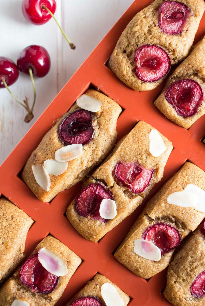 Receta Financiers de Cereza