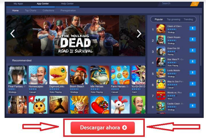Descargar Bluestacks emulador