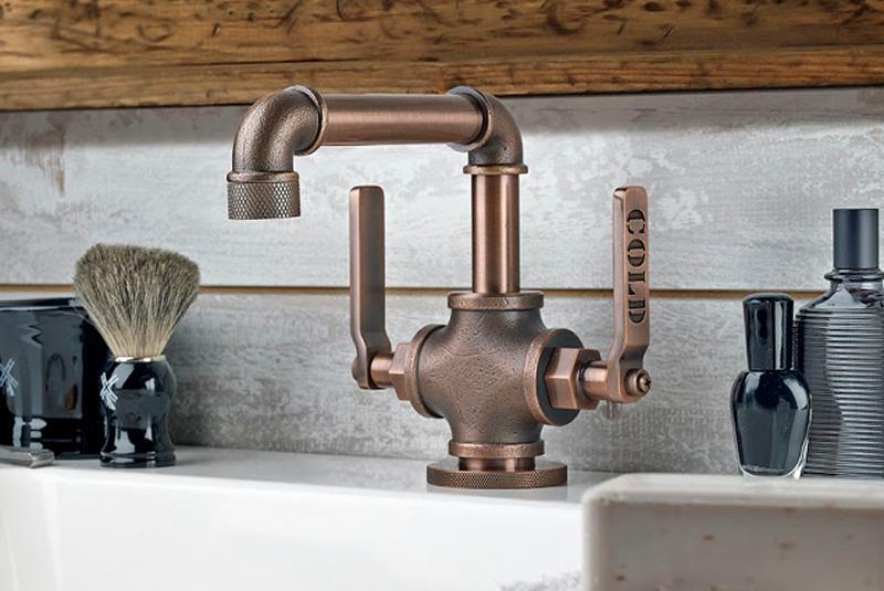 Grifería de estilo industrial para tu cuarto de baño ...