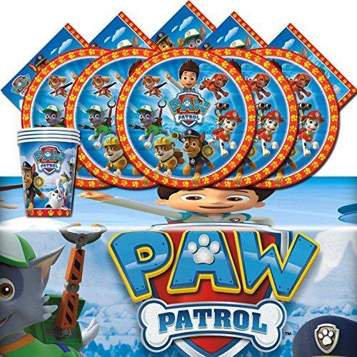 Paw Patrol Rescue Puppy Pet Children Birthday Complete Party Tableware Pack For 16