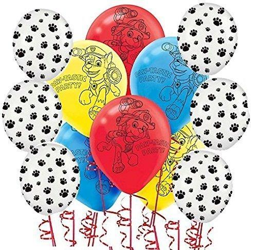 BirthdayExpress Paw Patrol and Paw Print Balloons Kit