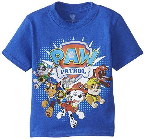 Paw Patrol Little Boys Toddler Group T-Shirt, Royal, 4T