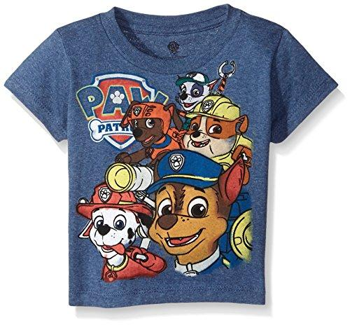 Paw Patrol Little Boys Toddler Group T-Shirt, Navy Heather, 3T