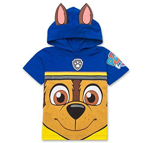 Nickelodeon Paw Patrol Hooded Shirt: Chase, Marshall, Rocky, Rubble, Zuma - Boys (Navy Chase, 4T)
