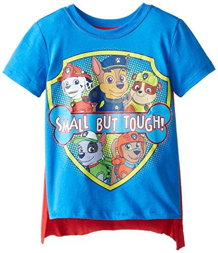 Nickelodeon Little Boys Toddler Paw Patrol Small But Tough Toddler Cape T-Shirt, Blue, 4T