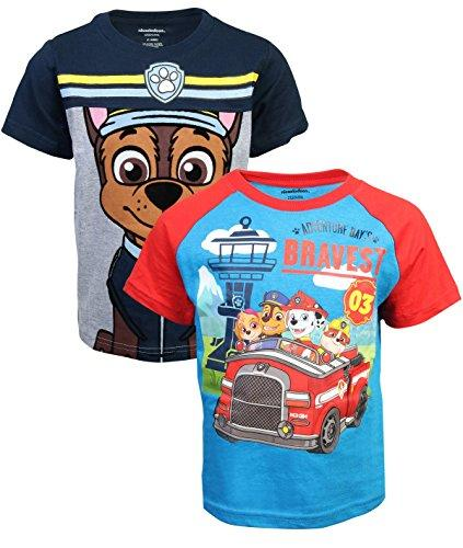 Nickelodeon Paw Patrol Boys T-Shirt (2 Pack) (3T, Paws Bravest)