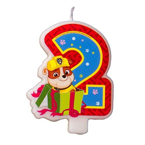 Cake Cupcake Topper Candle 2 Years PAW Patrol Baking Dessert Decorations Happy Birthday Holiday Anniversary Jubilee Party Supply Must Have Accessories for Kids Baby Shower Celebration
