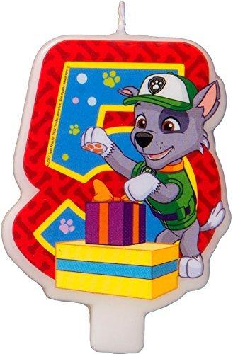 Сandle on a Cake Topper 5 Years Paw Patrol Must Have Accessories for the Party Supplies and Birthday