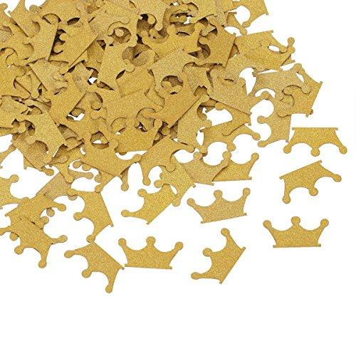 200 Pieces Confetti Gold Glitter Crown for Wedding Baby Shower Royal Prince Party 1st Birthday Decor by Topoox