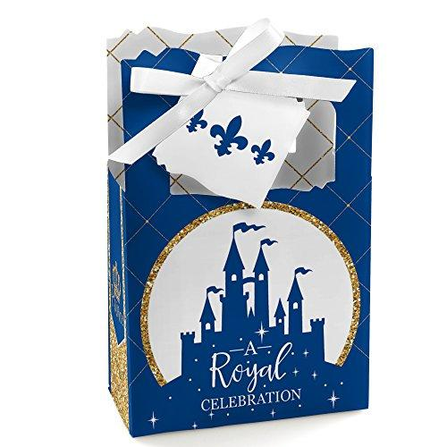 Big Dot of Happiness Royal Prince Charming - Baby Shower or Birthday Party Favor Boxes - Set of 12