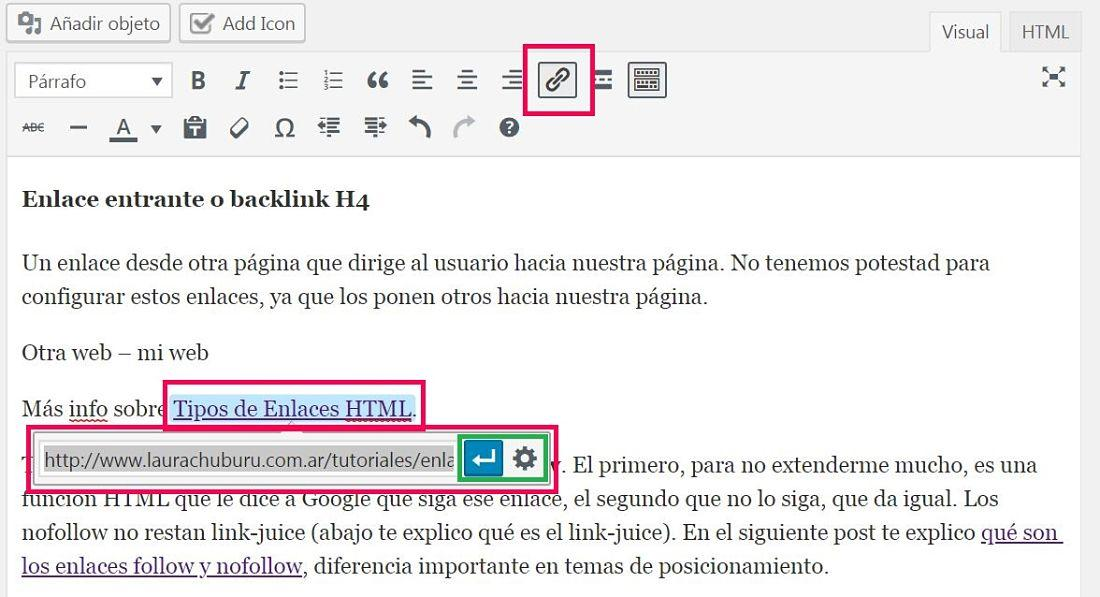 enlazar un post en wordpress