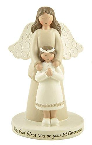 Blossom Bucket First Communion Girl/Angel On Base Home Decor