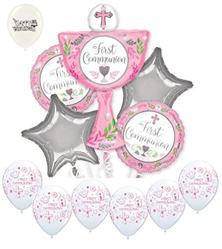 Girl First Holy Communion Balloons Bouquet Bundle