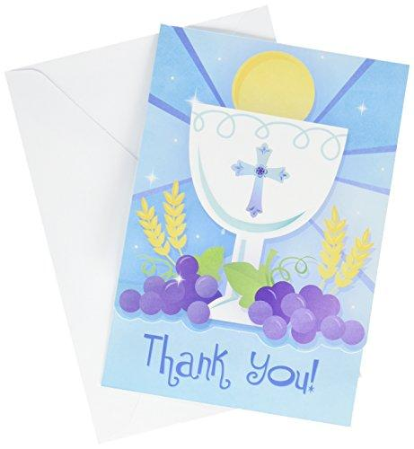 Amscan First Communion Invitation & Thank You Card Value Pack, Multicolor