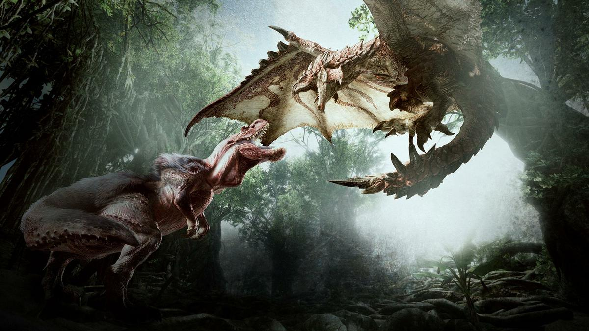 anjanath rathalos fight