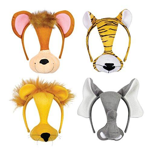 "Constructive Playthings SML-10 Wild Animal Furree Faces Headband Masks, Grade: Kindergarten to 3, 9.5"" Height, 4"" Wide, 7.25"" Length"