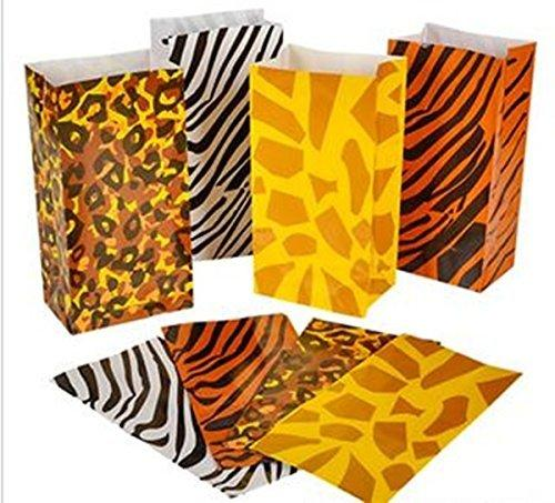 happy deals Wild zoo safari Animal print gift and goody bags - 36 pc