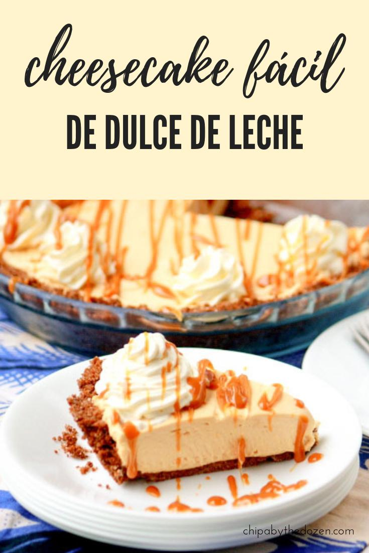 Cheesecake de dulce de leche ¡muy fácil!