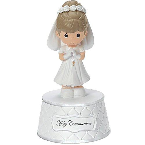 Precious Moments, Holy Communion Music Box, Plays: The Lords Prayer, Resin, For Girl, 153502