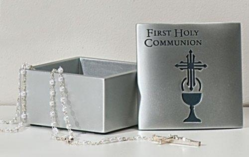 Roman Inc. First Holy Communion Trinket ( Rosary ) Box * Confirmation Catholic Christian 63699