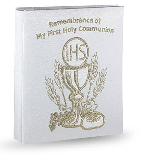 My First Communion Embroidered Satin Photo Album, 5 1/2 x 7 Inches