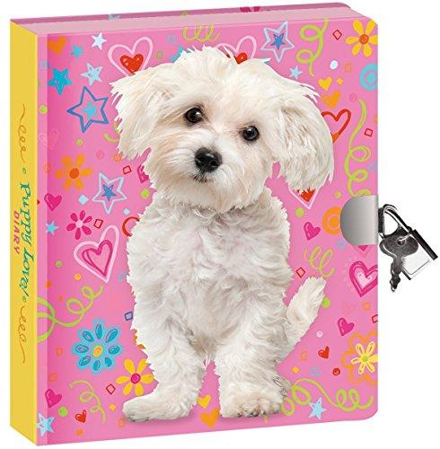 "Peaceable Kingdom Puppy Love 6.25"" Lock and Key, Lined Page Diary for Kids"