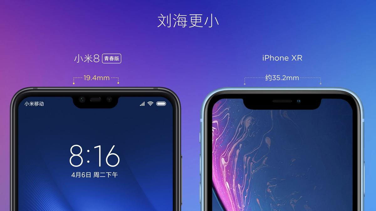 Xiaomi Mi 8 Lite vs iPhone XR