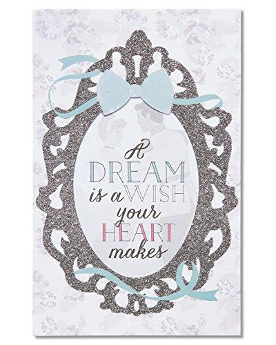 American Greetings Disney Wedding Card with Glitter