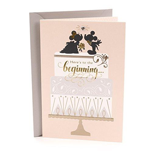 Hallmark Wedding Greeting Card (Mickey and Minnie, Classic Romance) (459RZB1040)