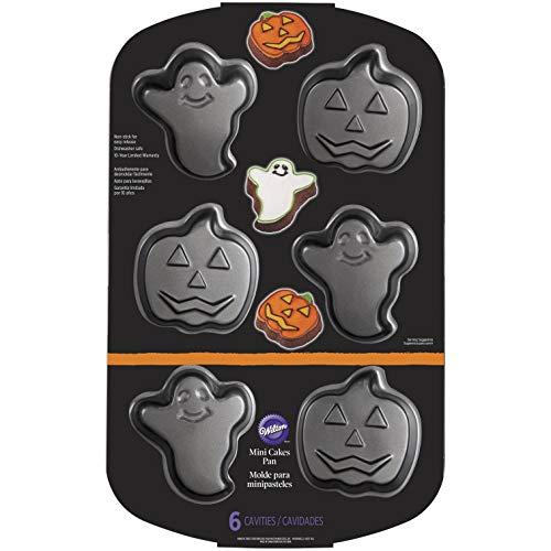 Wilton 2105-8961 Pumpkin Non-Stick Mini Ghost, Cake, Pan, One Size, Assorted