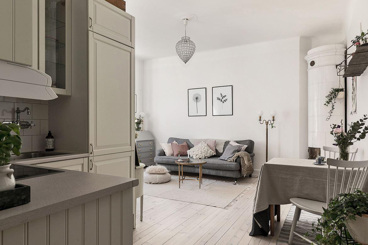 Romantic Scandinavian apartment 12