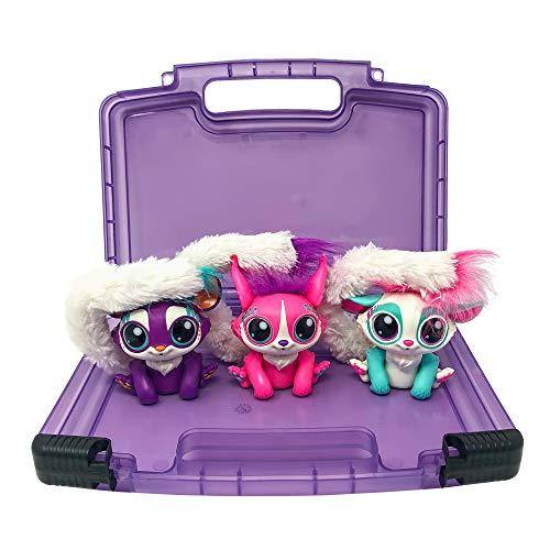 Life Made Better Toy Case, Compatible with Mattel Lil Gleemerz Dolls, This Box is Not Made by Mattel Lil Gleemerz, Stores Up to 5 Dolls, Purple
