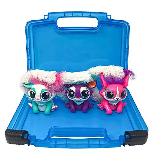 Life Made Better Toy Case, Compatible with Mattel Lil Gleemerz Dolls, This Box is Not Made by Mattel Lil Gleemerz, Stores Up to 5 Dolls, Blue