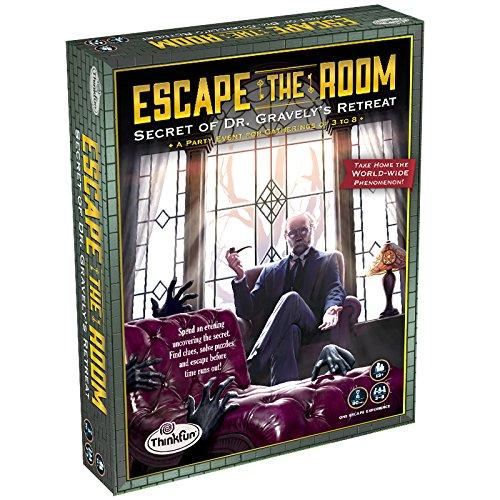 ThinkFun Escape the Room Secret of Dr. Gravelys Retreat - An Escape Room Experience in a Box For Age 13 and Up