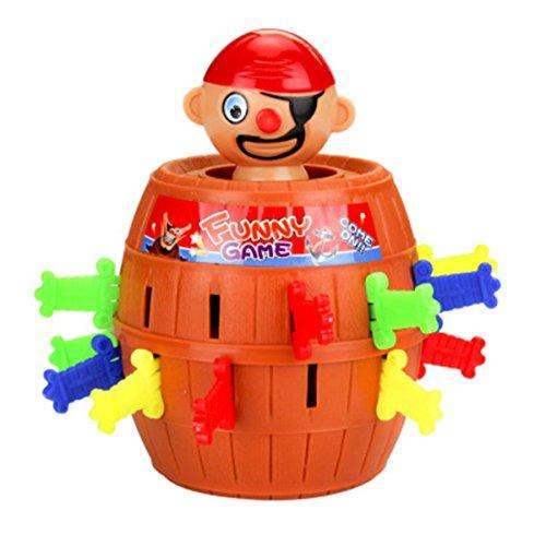 SYUDY Pirate Barrel Game, Pirate Funny Barrel Novelty Toy Bucket Lucky Stab Toys Game, Adult Kids Pirate Bucket Tricky Toy Party Game