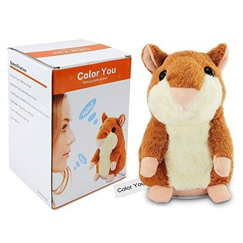Color You Talking Hamster Repeats What You Say Electronic Pet Talking Plush Toy