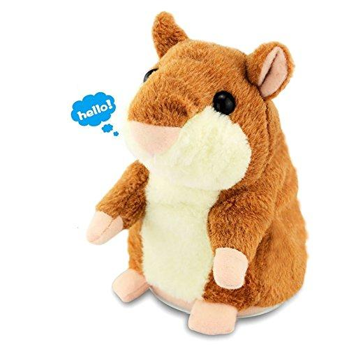 AnyBack Electronic Stuffed Talking Plush Animals Pets Toys Hamster,Electric Cute Plush Mimicry Pet Animal Toy Repeating Mouse Talking Hamster Stuffed Animals Toys for Kids Boys Girls Toddlers Brown