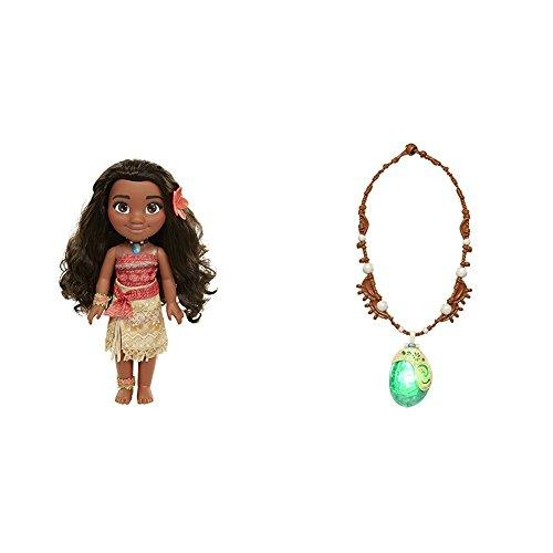 Disney Moana Adventure Doll - 14 Inches with Disney Moanas Magical Seashell Necklace Bundle