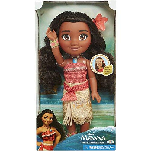 "14"" Disney Moana - Adventure Doll - Moana is Dressed in Her Iconic Outfit and Necklace From the Film, with Accessories to Match."