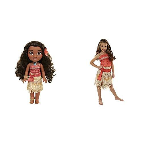 Disney Moana Adventure Doll - 14 Inches with Disney Moana Girls Adventure Outfit Bundle