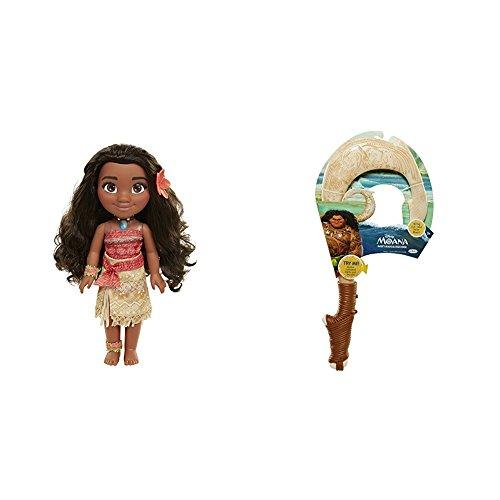 Disney Moana Adventure Doll - 14 Inches with Disneys Moana Mauis Magical Fish Hook Bundle