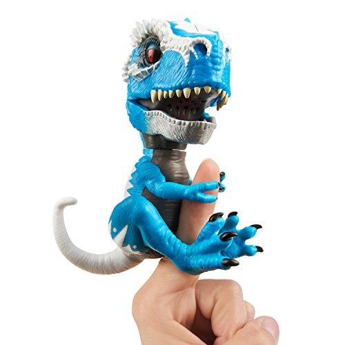 WowWee Untamed T-Rex by Fingerlings Ironjaw (Blue) -Interactive Collectible Dinosaur