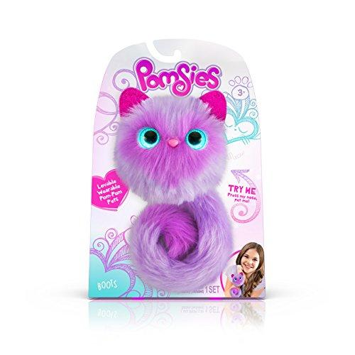 Pomsies Boots Plush Interactive Toys, Purple