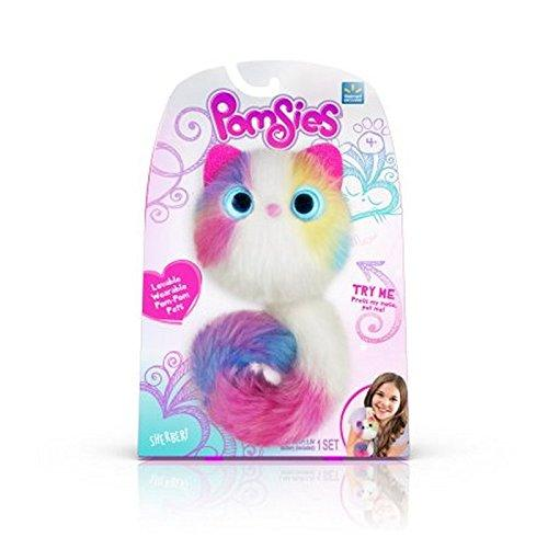 Pomsies Sherbert Plush Interactive Toys, White/Pink/Blue/Purple/Yellow One Size