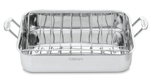 Cuisinart 7117-16UR Chefs Classic Stainless 16-Inch Rectangular Roaster with Rack
