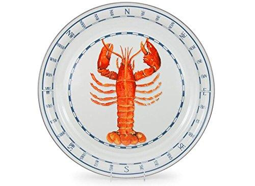 Clambake Lobster Dinner Serving Tray 20 Inch Round Lobster Design