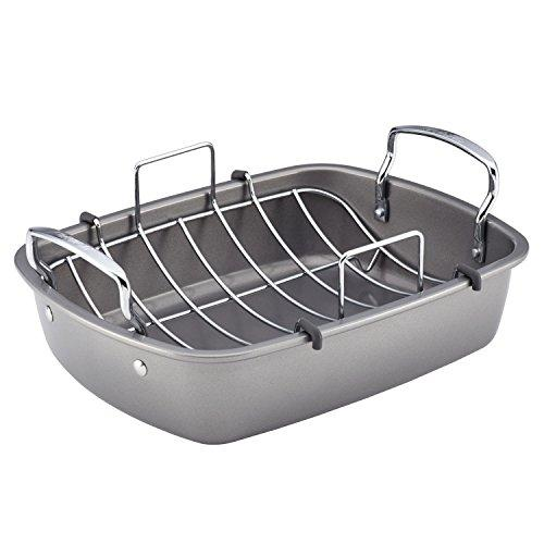 Circulon Nonstick Bakeware 17-Inch by 13-Inch Roaster with U-Rack