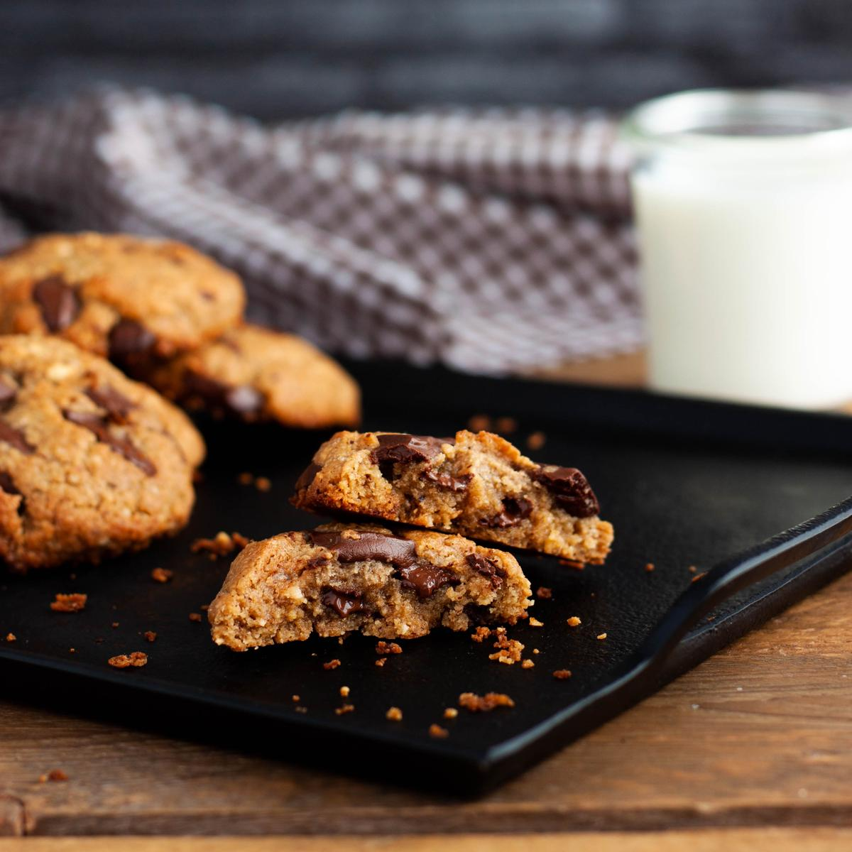 Cookies extrachocolateadas sin gluten