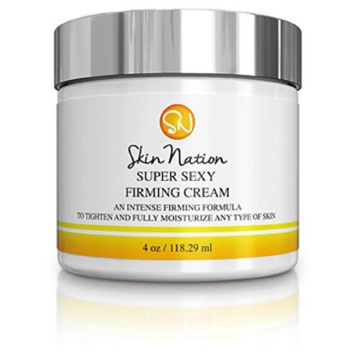 Super Sexy Firming Cream Body Lotion To Firm, Tighten & Tone Skin, Neck, Breast, Decolletage, Legs. Intense Anti Aging and Moisturizing Shea Butter, Jojoba Oil. Skin Nation by Michelle Stafford